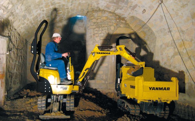 SV08 Yanmar kaivuukone
